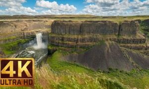 4K Nature Relax Video - Palouse Falls in Spring, Eastern Washington 5 HRS